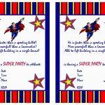Free Printable Superman Birthday Invitations   Free Printable Superman Invitations