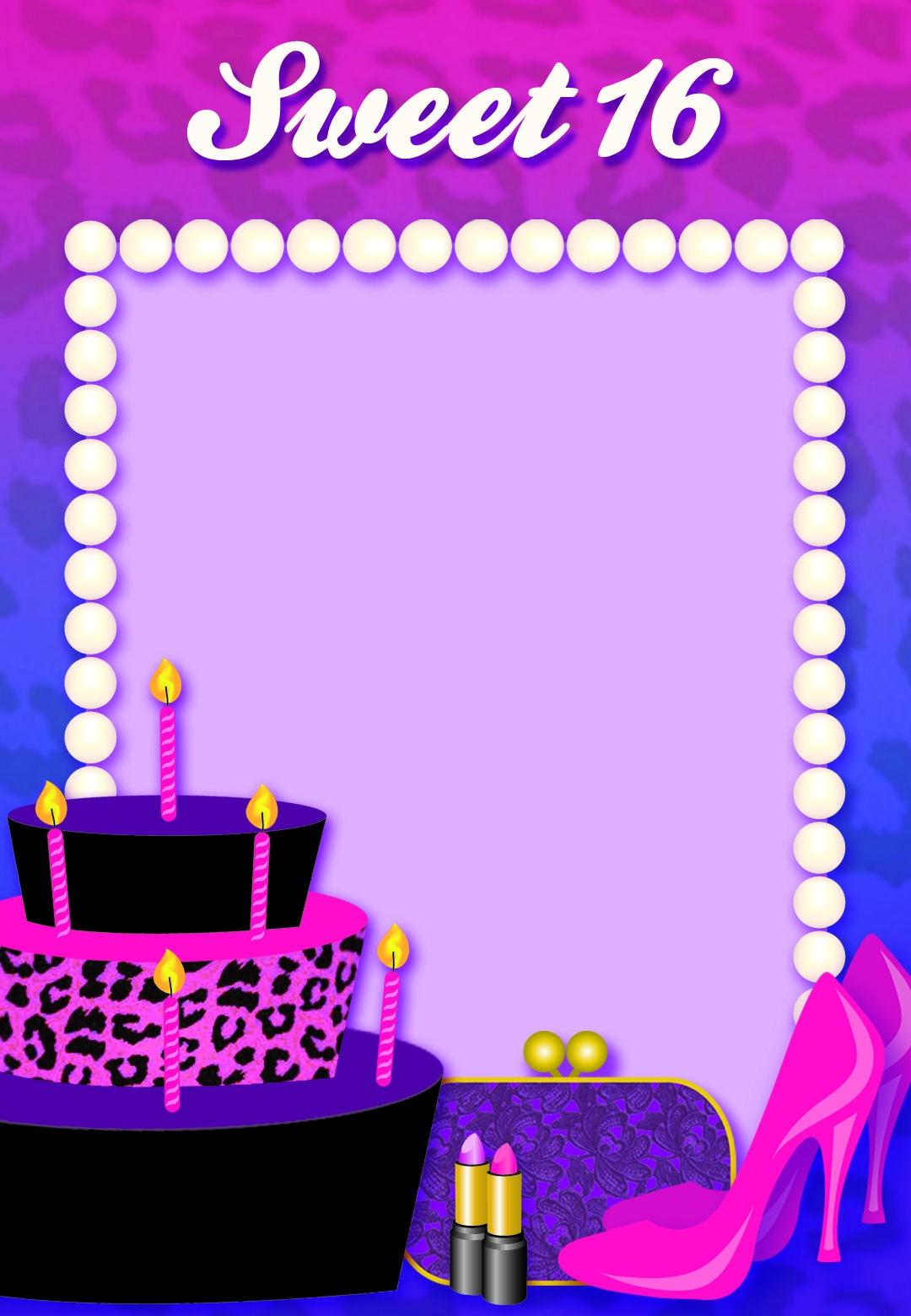 Free Printable Sweet 16 Birthday Invitation | Things I Love | Sweet - Free Printable Sweet 16 Birthday Party Invitations