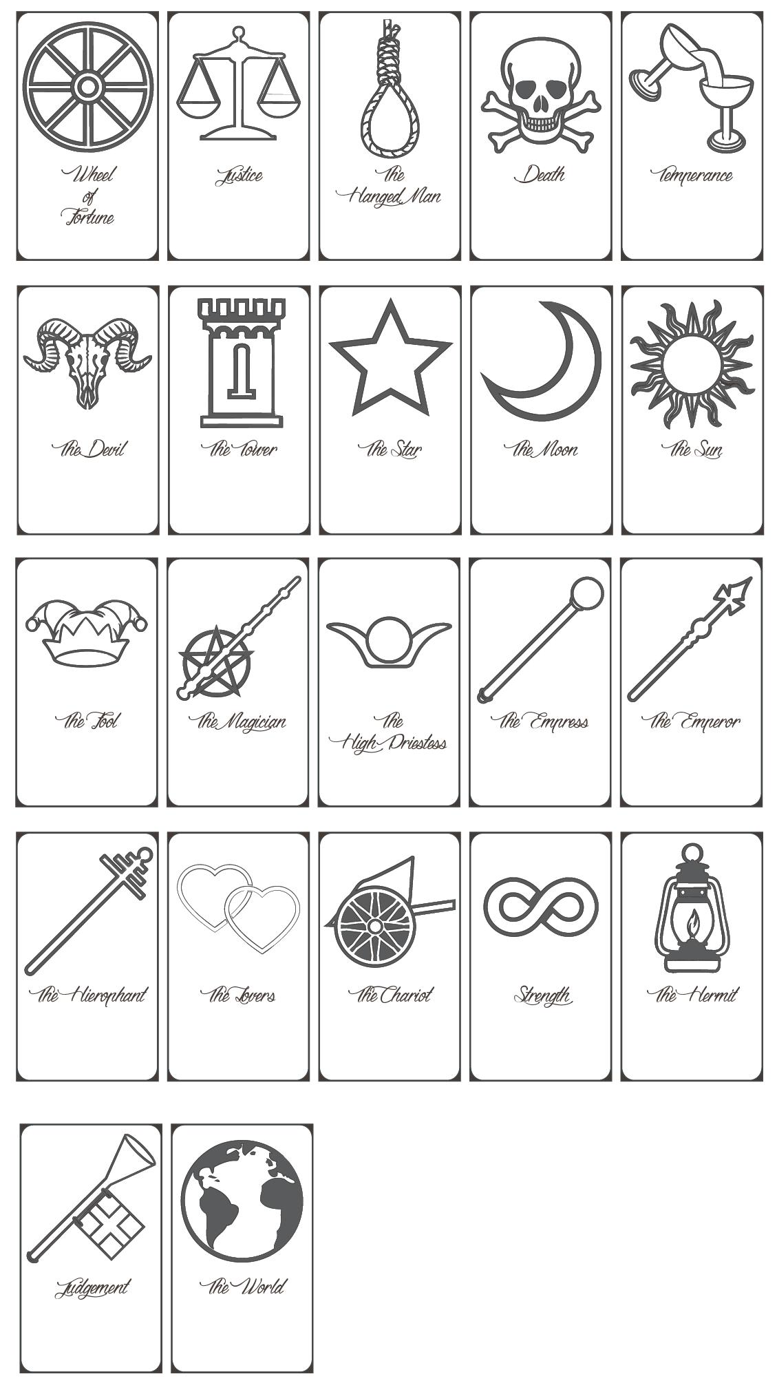 Free Printable Tarot Cards Pdf - Printable Cards - Free Printable Oracle Cards Pdf
