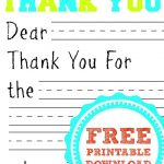 Free Printable Thank You Card | Kids Thank You Note Templates   Free Printable Thank You Cards For Soldiers