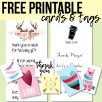 Free Printable Thank You Cards And Tags For Favors And Gifts!   Free Printable Thank You Tags