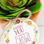Free Printable Thank You For Helping Me Grow Gift Tags | Skip To My Lou   Thanks For Helping Me Grow Free Printable