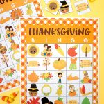 Free Printable Thanksgiving Bingo Cards   Happiness Is Homemade   Free Printable Thanksgiving Cards
