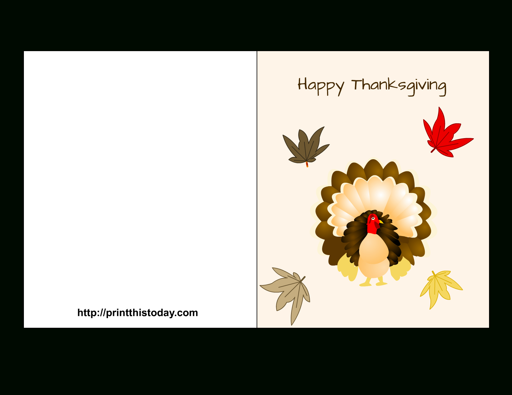 Free Printable Thanksgiving Cards - Free Printable Thanksgiving Cards
