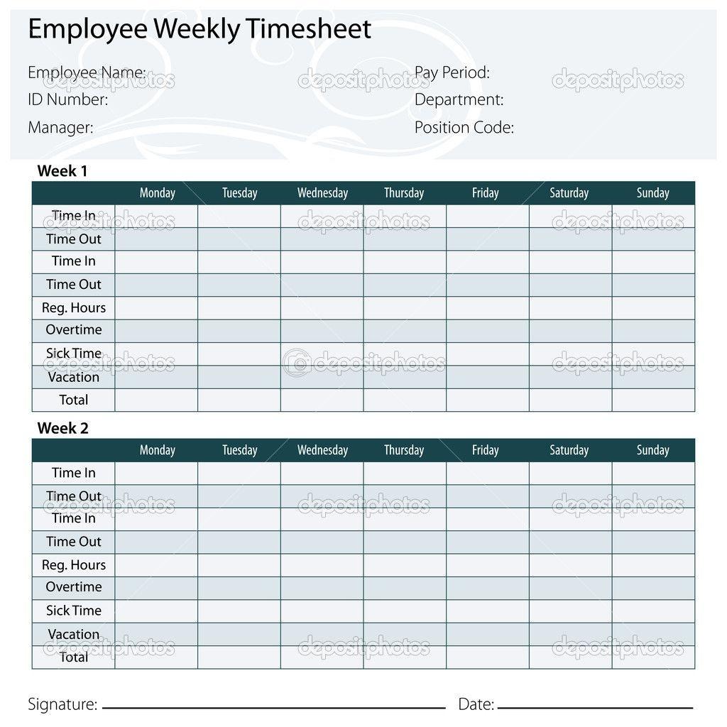 Free Printable Timesheet Templates   Timesheet Template Free Excel - Timesheet Template Free Printable