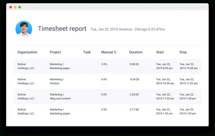 Free Printable Attorney Timesheets