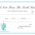 Free Printable Tooth Fairy Letter | Tooth Fairy Certificate   Free Printable Tooth Fairy Certificate