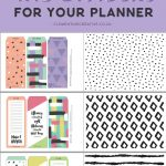 Free Printable Top Tab Dividers For Planners, Diaries And Agendas   Free Printable Tabs For Binders