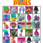 Free Printable Trolls Movie Bingo | Violet's 5Th Birthday | Troll   Free Trolls Photo Booth Props Printable