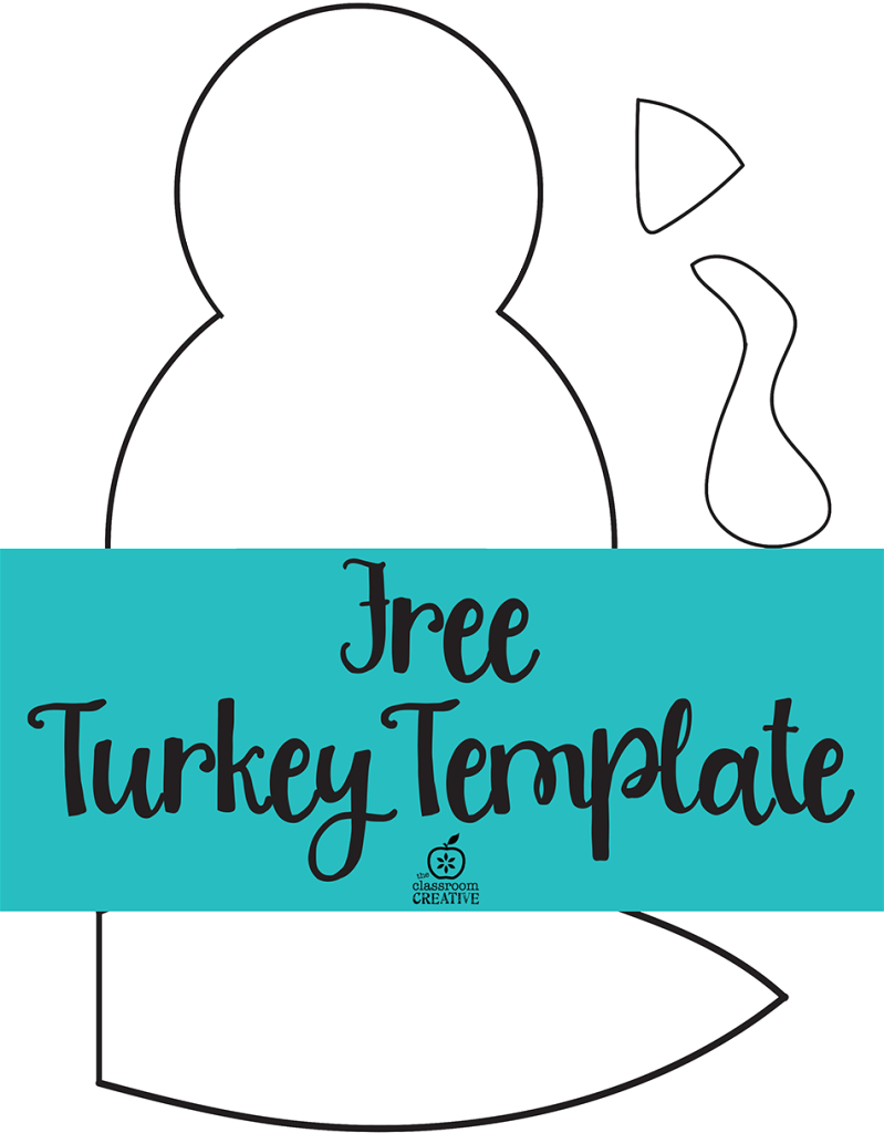 Free Printable Turkey Template. Easy Peasy | Kids Thanksgiving - Free Printable Turkey Craft