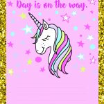 Free Printable Unicorn Invitations   Free Printable Unicorn Invitations