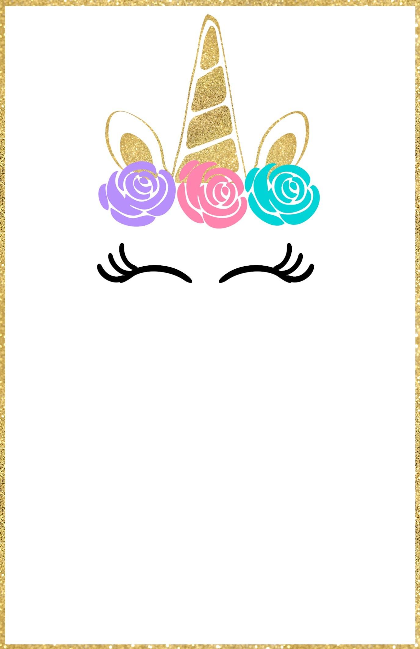 Free Printable Unicorn Invitations Template - Paper Trail Design - Free Unicorn Party Printables