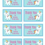 Free Printable Unicorn Party Gift Tag | Crafts | Unicorn Themed   Free Printable Thank You Tags For Birthday Favors