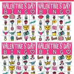 Free Printable Valentine Bingo Cards For All Ages   Play Party Plan   Valentines Bingo Cards Free Printable