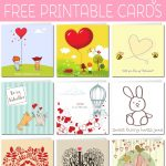 Free Printable Valentine Cards   Free Printable Picture Cards