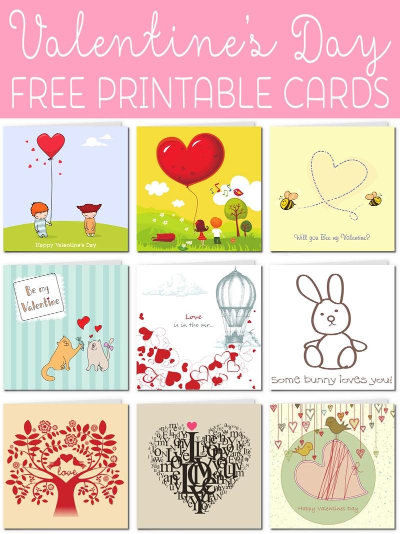 Free Printable Valentine Cards - Free Valentine Printables