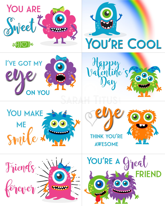 Free Printable Valentine Cards - Sarah Titus - Free Printable Valentines Cards For Son