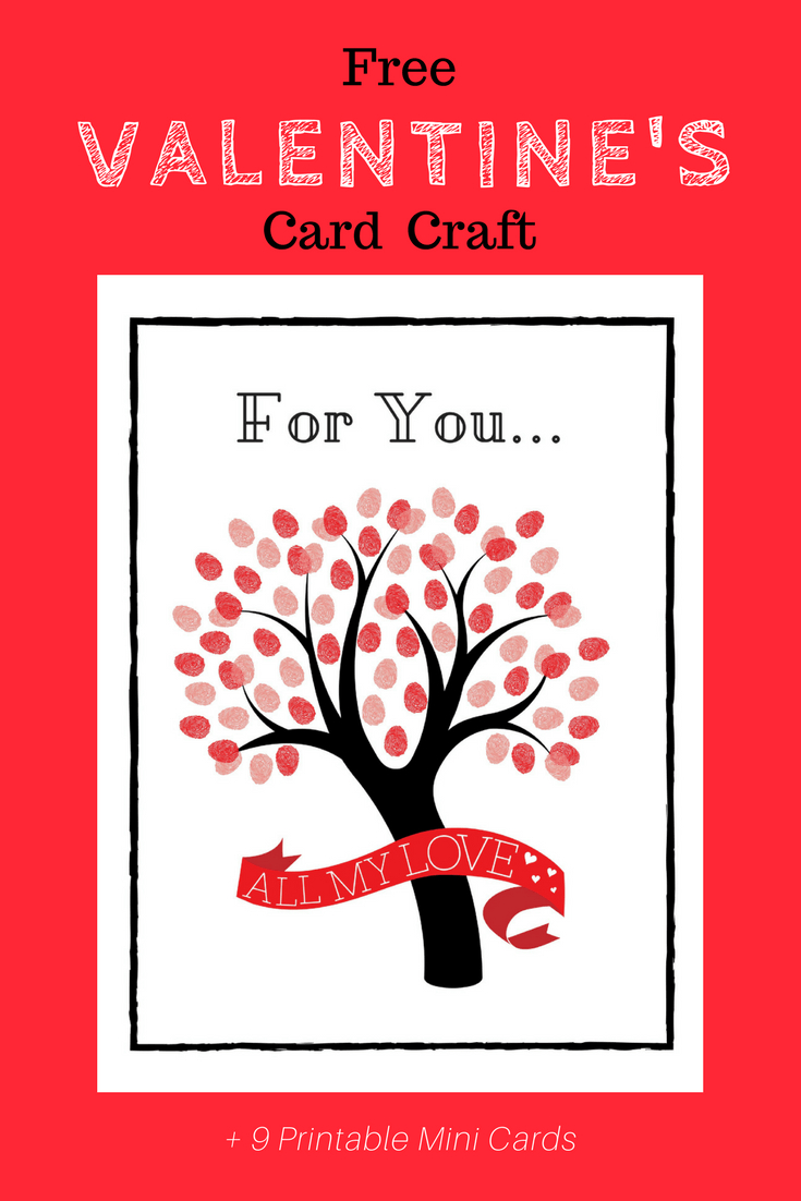 Free Printable Valentine's Day Card Craft + Kid's Mini Cards - Free Printable Valentines Day Cards For Parents