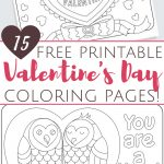 Free Printable Valentine's Day Coloring Pages For Adults And Kids   Free Printable Valentine Coloring Pages