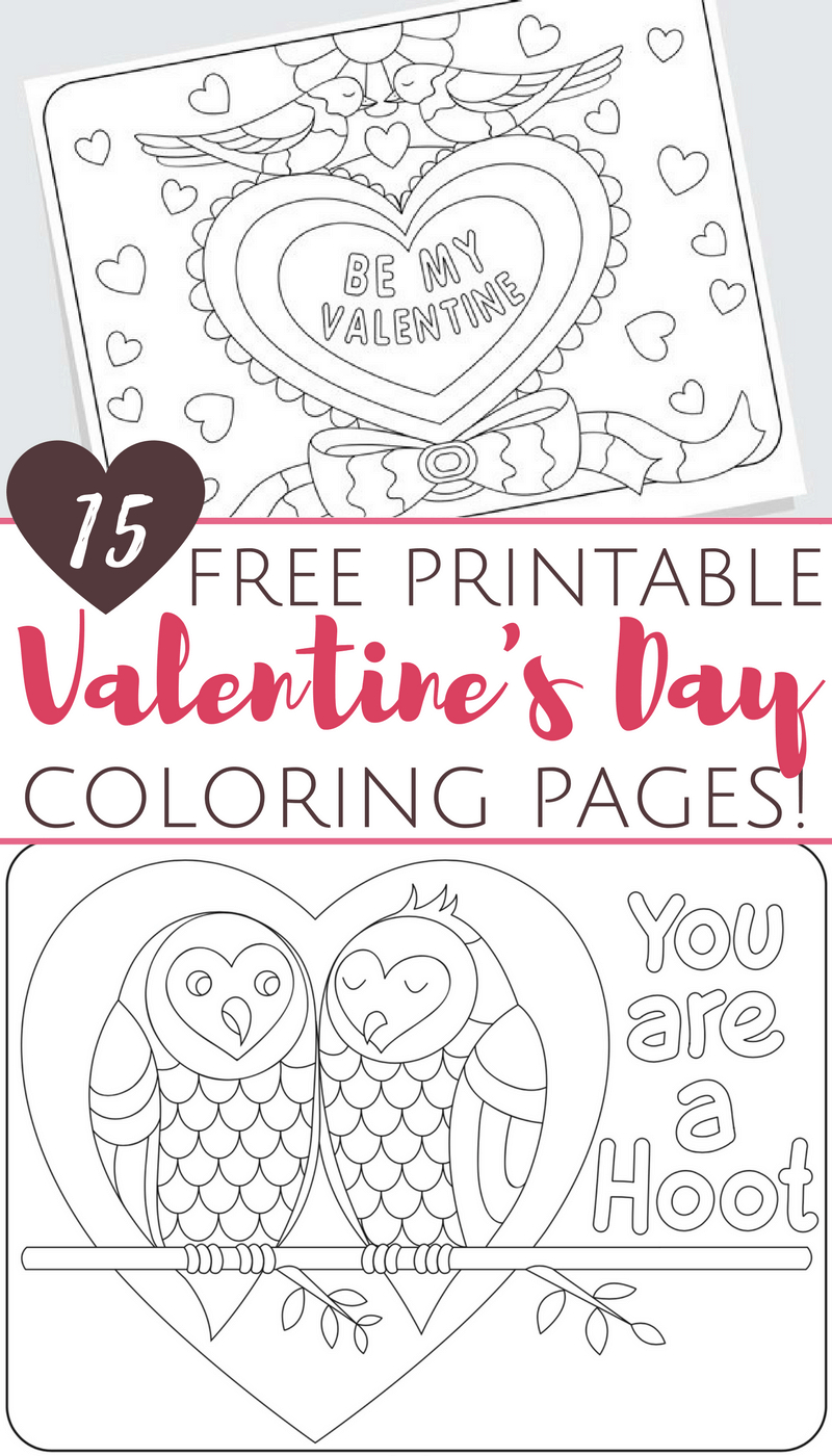Free Printable Valentine's Day Coloring Pages For Adults And Kids - Free Printable Valentine Coloring Pages