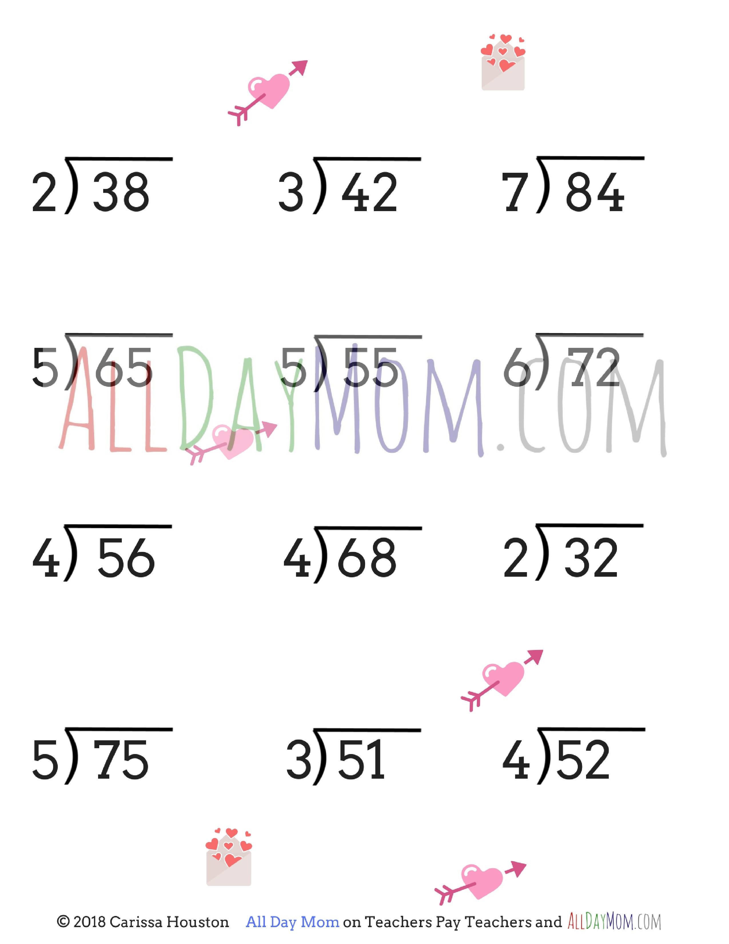 Free Printable Valentine's Day Math Worksheets! - Free Valentine Math Worksheets And Printables