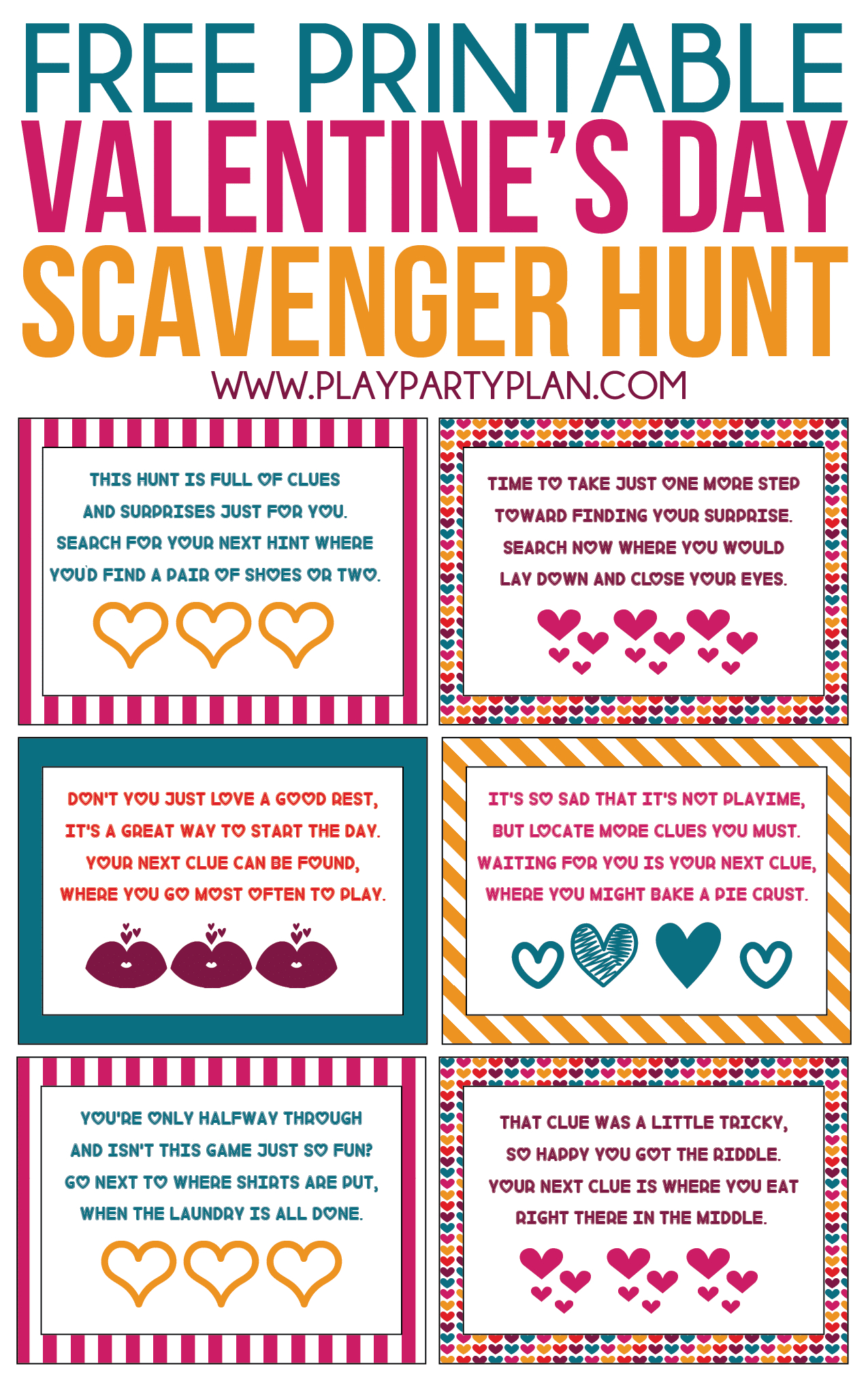 Free Printable Valentine's Day Scavenger Hunt Kids & Adults Will Love - Free Printable Scavenger Hunt For Kids