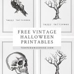 Free Printable Vintage Halloween Wall Art   Free Vintage Halloween Printables