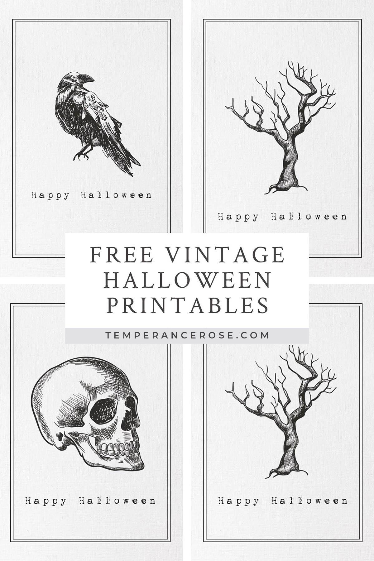 Free Printable Vintage Halloween Wall Art - Free Vintage Halloween Printables