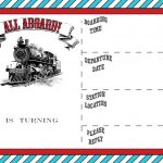 Free Printable Vintage Train Ticket Invitation | Free Printable   Free Printable Baseball Ticket Birthday Invitations