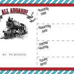 Free Printable Vintage Train Ticket Invitation   Free Printable   Free Printable Ticket Invitation Templates