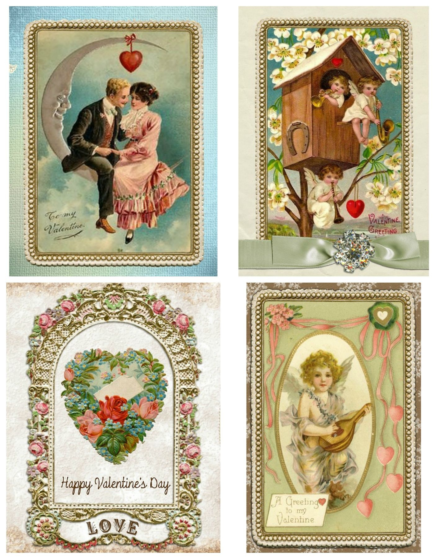 Free Printable Vintage Valentine's Day Cards | Valentines Day - Free Printable Vintage Valentine Pictures