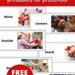 Free Printable Visual Schedule For Preschool   No Time For Flash Cards   Free Printable Visual Schedule For Classroom
