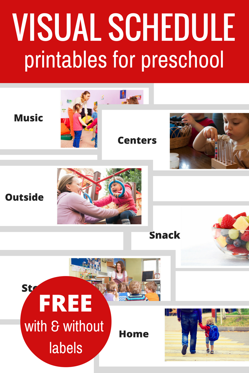 Free Printable Visual Schedule For Preschool - No Time For Flash Cards - Free Printable Visual Schedule For Classroom