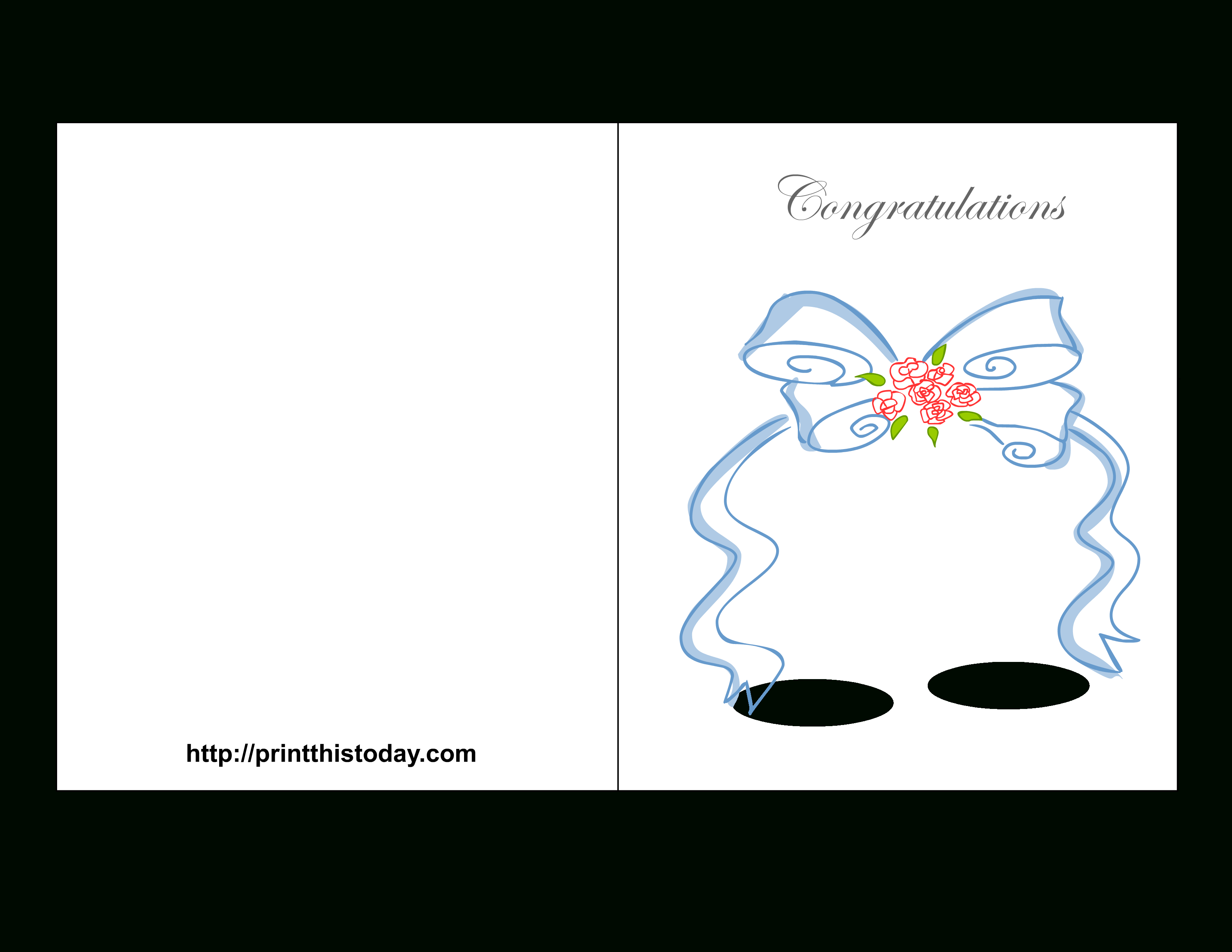 Free Printable Wedding Congratulations Cards - Free Printable Wedding Cards
