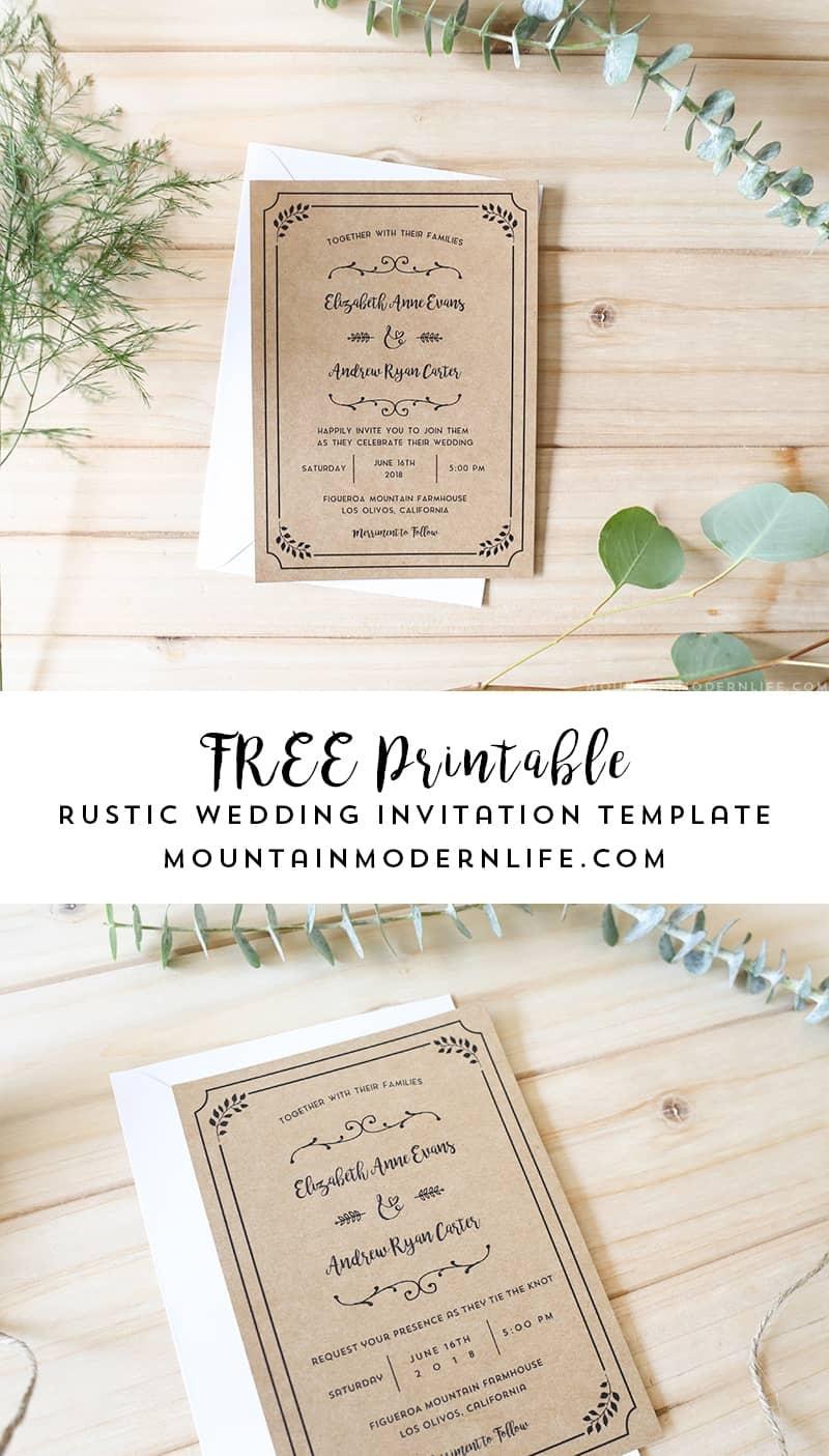 Free Printable Wedding Invitation Template - Wedding Invitation Cards Printable Free