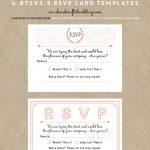 Free Printable Wedding Invitation Template | Wedding Invitations   Free Printable Rsvp