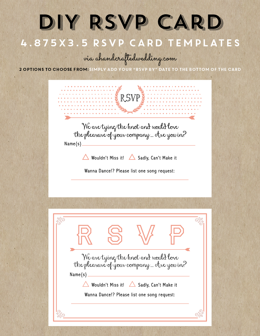 Free Printable Wedding Invitation Template | Wedding Invitations - Free Printable Rsvp