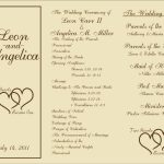 Free Printable Wedding Programs Templates | : Sample Wedding   Free Printable Wedding Program Templates