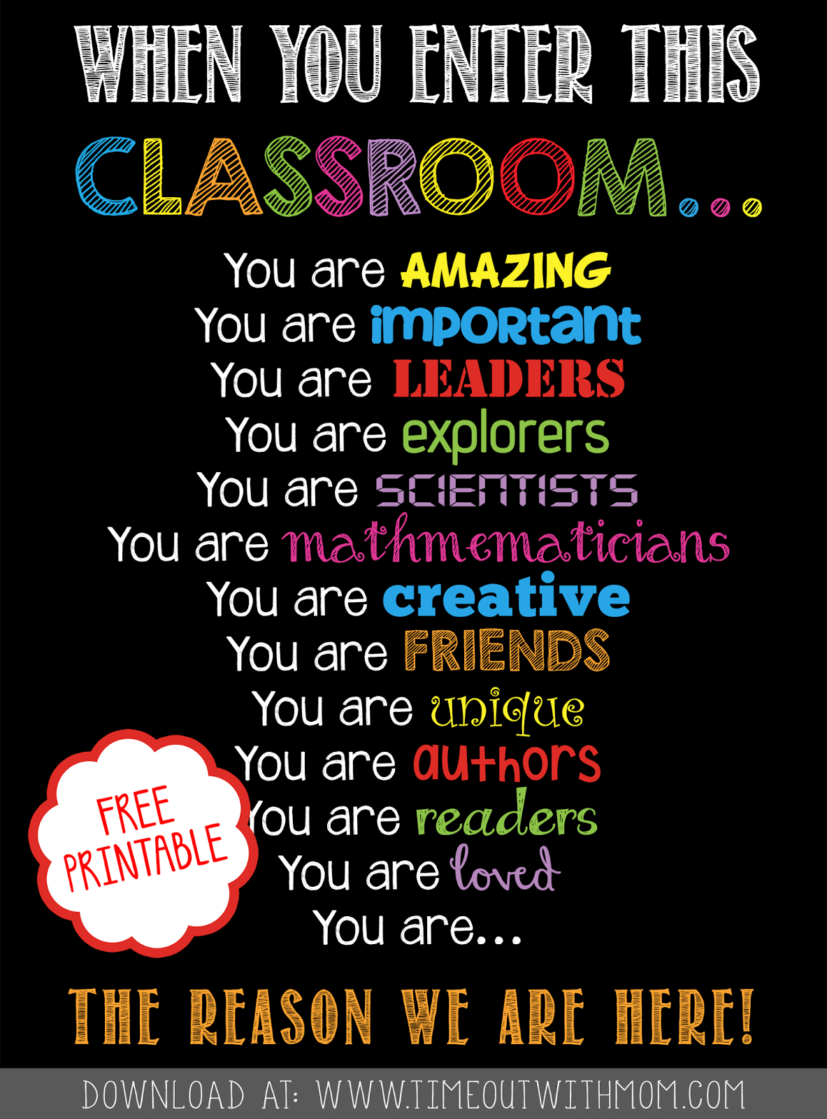 Free Printable - Welcome Back To School, Classroom Printable For - Free Printable Posters For Teachers