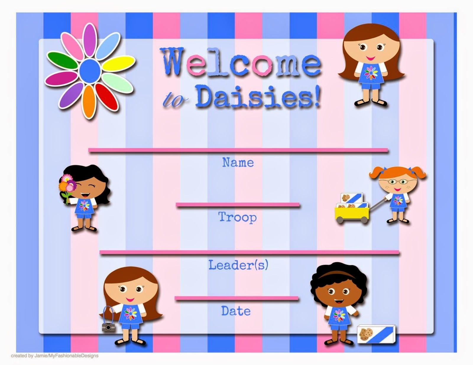 Free Printable: Welcome To The Troop Certificate | Girl Scouts - Free Daisy Girl Scout Printables