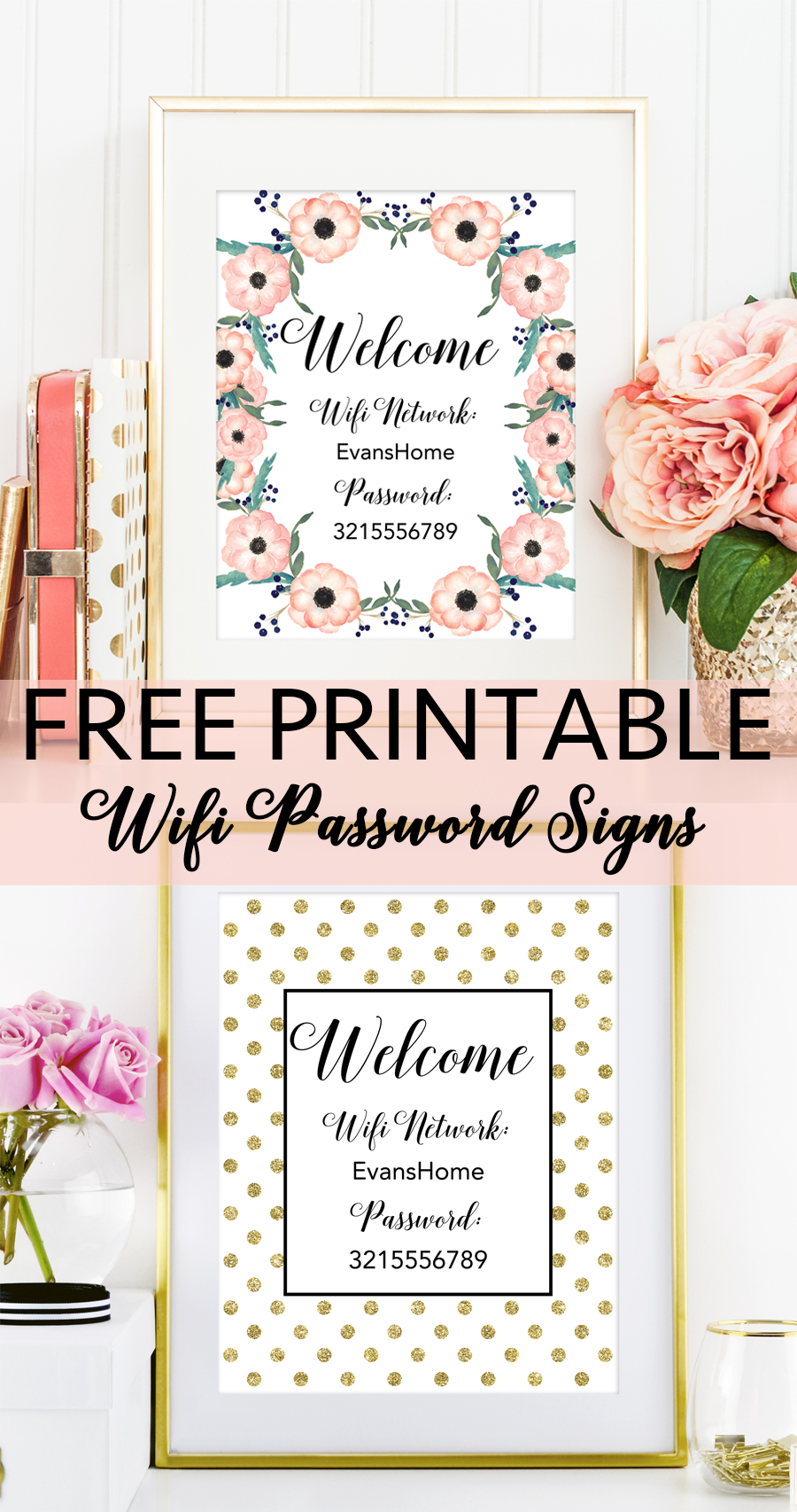Free Printable Wifi Password Signs | Decorating Ideas - Home Decor - Free Printable Wifi Password Template