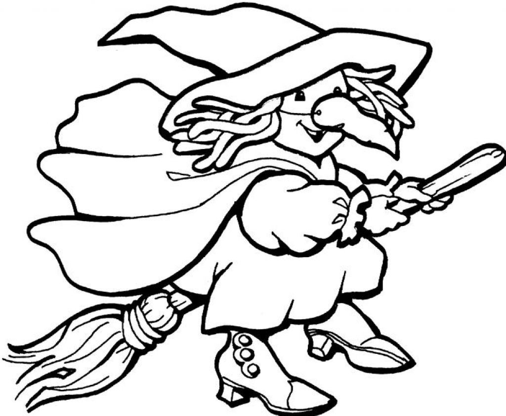 Free Printable Witch Coloring Pages For Kids - Free Printable Pictures Of Witches