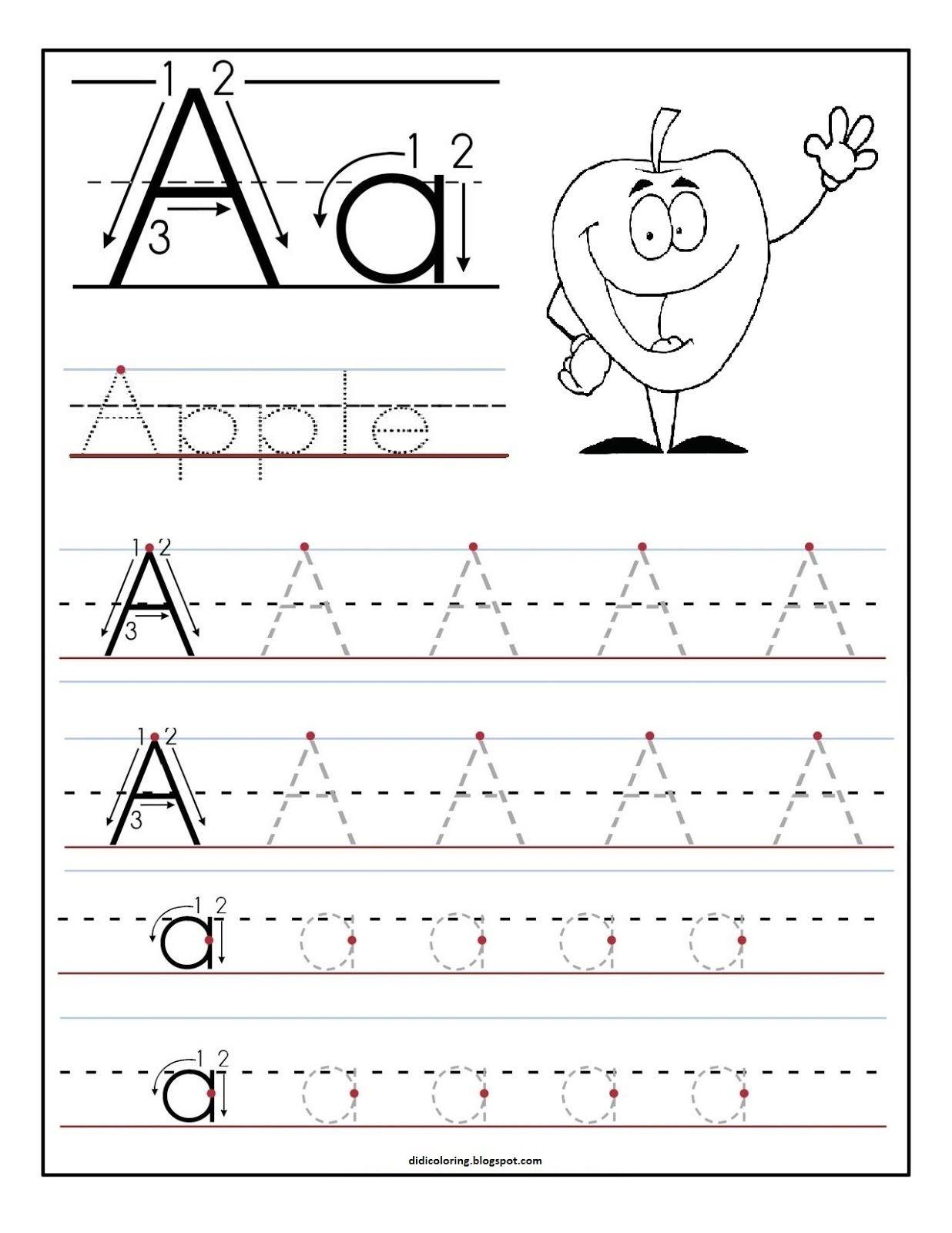 Free Printable Worksheet Letter A For Your Child To Learn And Write - Free Printable Letter Writing Worksheets