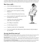 Free Printable Worksheet: When I Have A Conflict. A Quick Self Test   Free Printable Counseling Worksheets