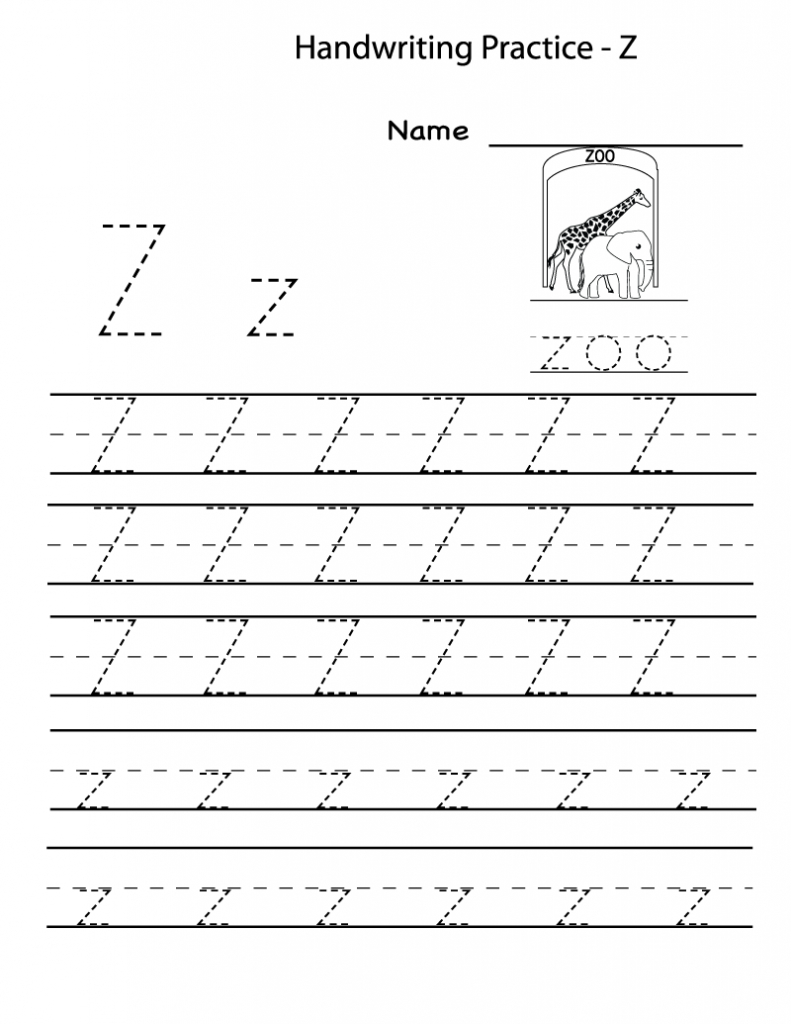 Free Printable Worksheets For Preschoolers For The Letter Z - Letter Z Worksheets Free Printable