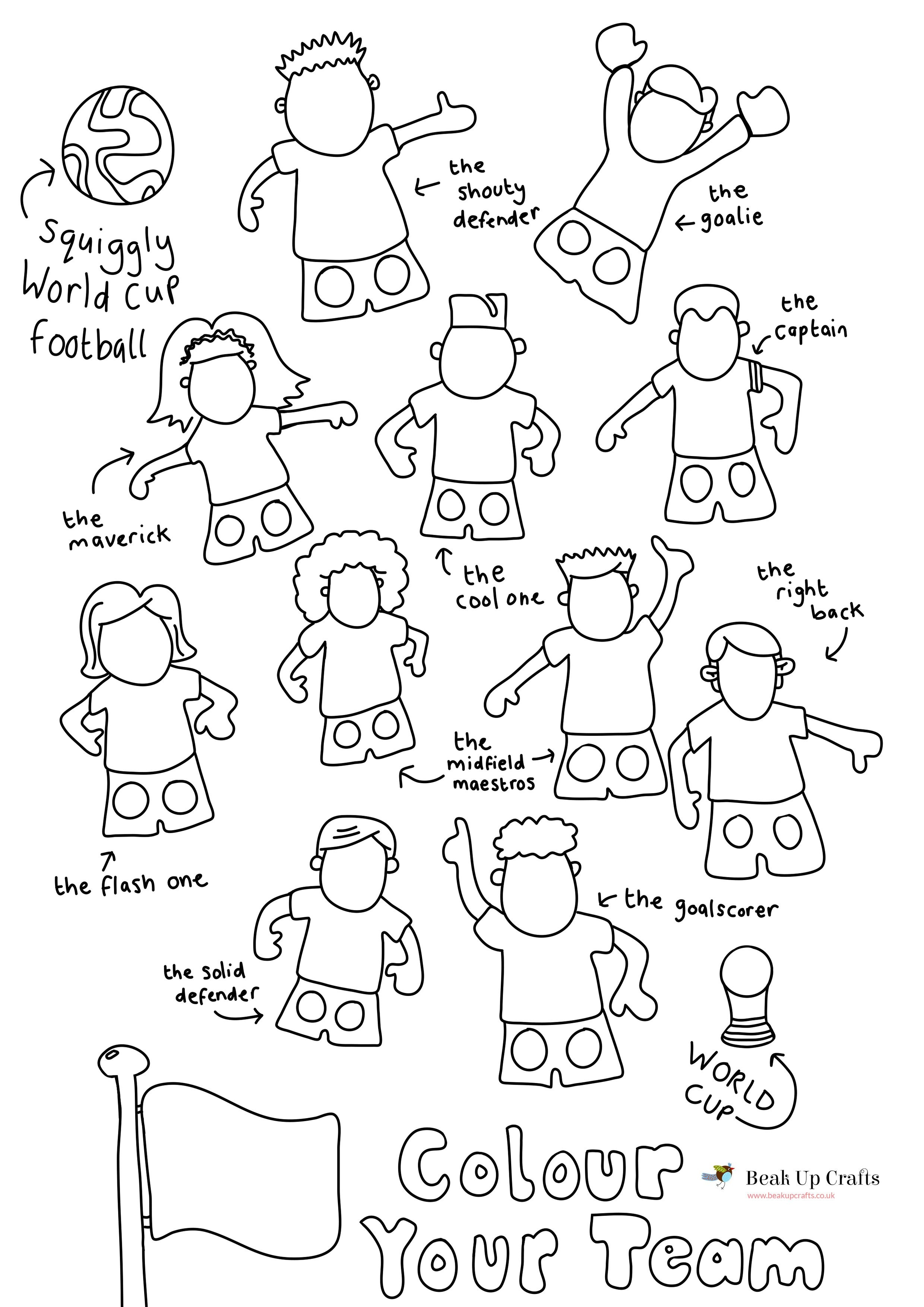 Free Printable - World Cup Football/soccer Player Paper Finger - Free Printable Finger Puppet Templates