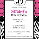 Free Printable Zebra Print Invitations Baby Shower | Emma | Free   Free Printable Zebra Print Birthday Invitations