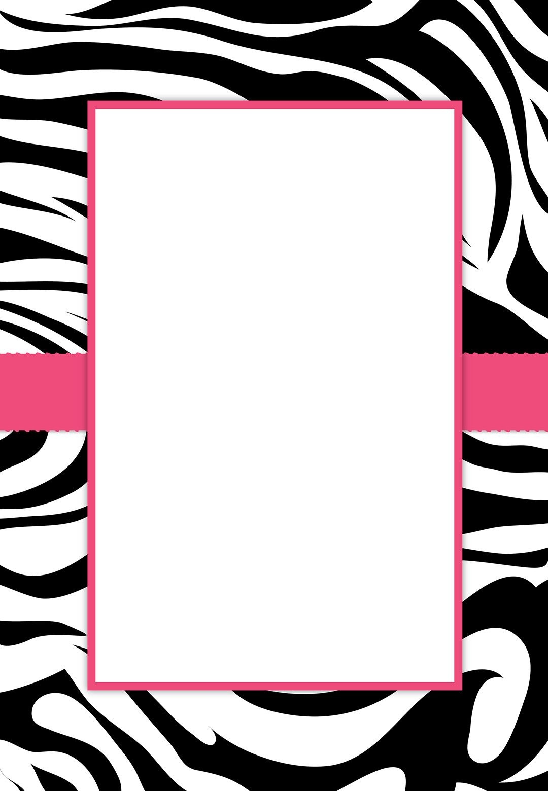 Free Printable Zebra Stripes Invitation. This Is Really A Great Site - Free Printable Zebra Print Birthday Invitations