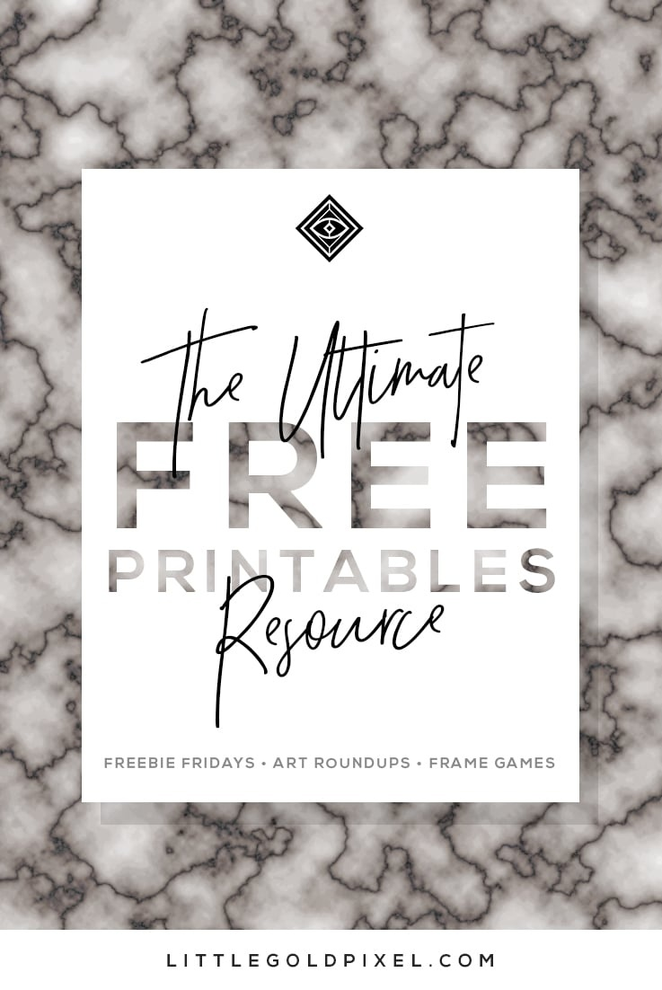 Free Printables • Free Wall Art Roundups • Little Gold Pixel - Free Black And White Printable Art