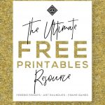 Free Printables • Free Wall Art Roundups • Little Gold Pixel   To Have And To Hold Your Hair Back Free Printable